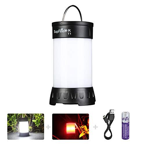 SupFire Lanterna Campeggio LED Camping 800 Lumens...
