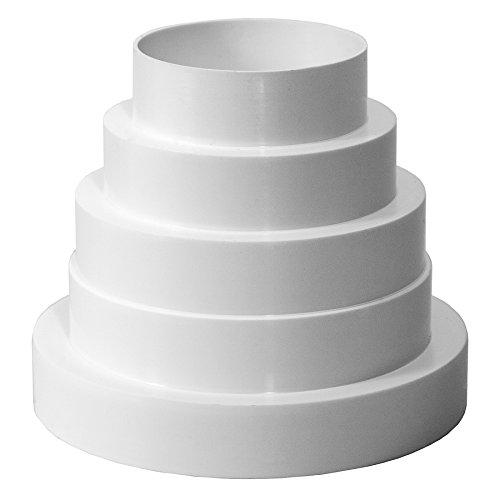 Ø 80 100 120 125 150 mm PVC Reduzierverbinder Reduzierstück Reduktion Rohr Übergang Lüftung Rundrohr Ventilation Lüftungskanal Ventilator Universal Ø 80-150 mm