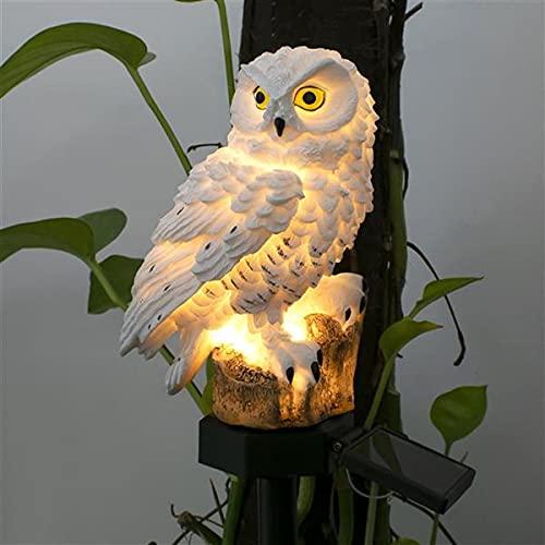 VMOPA Outdoor Solar Lights, Owl Shape Solar Powered LED Lamp, Waterproof Solar Garden Lights Stake Lights for Outdoor Walkway Yard Lawn Landscape In-Ground Spike Lighting(Owl Shape,White)