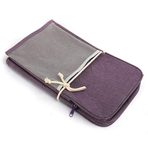 ZNMUCgs Funda antipolvo para máquina de coser con bolsillos de almacenamiento, accesorios acolchados, color morado