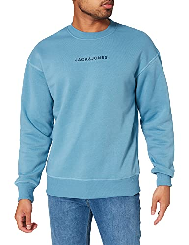 JACK & JONES JCOMARCO Sweat Crew Neck Sweatshirt Capuche, Blue Heaven/Fit : relaxé, XL Homme