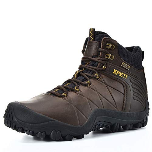 XPETI Men's Quest Mid Waterproof Leather Hiking Boot