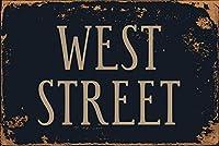 ウェストストリートヴィンテージアルミニウムレトロメタルサインヴィンテージブリキポスターバー装飾