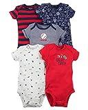 Carter's Baby Boys 5 Pack Bodysuit Set, Sports, Newborn