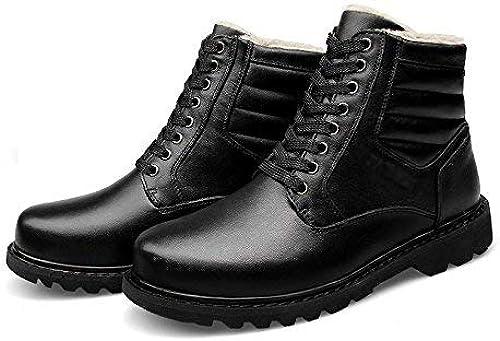 Oudan botas de Invierno de Escalada de Montaña para Hombre con Punta rojoonda. (Color   negro, tamaño   38)