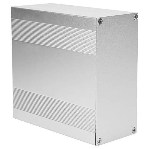 Caja eléctrica, caja de proyecto de aluminio plateado mate superficie oxidada con Shell para mecánico para bricolaje para instrumento industrial