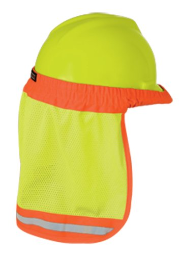 ML Kishigo 2810 Polyester Hard Hat Sun Shield, Lime by ML Kishigo