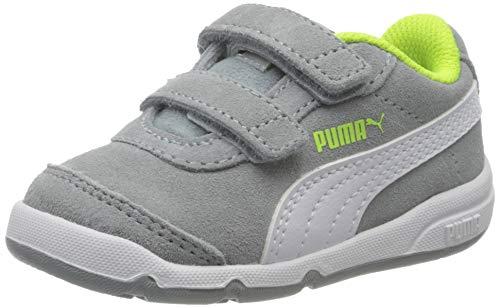 Puma Unisex Baby Stepfleex 2 Sd V Inf Sneaker, Quarry White-Yellow Alert, 23 EU