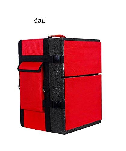 LIANJUN Koelers Levering Voedseldoos Outdoor Geïsoleerde Voedsellevering Tas - Multi Purpose gemakkelijk te dragen A-45L Rood