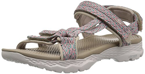 Skechers Go Walk Outdoors 14644-tpe, Sandalias Deportivas Mujer, Beige (Beige 14644/Tpe), 40 EU
