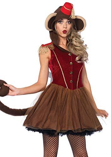 Leg Avenue 86640Wind-up Scimmia, Costume di Carnevale, per Donna, S, Marrone