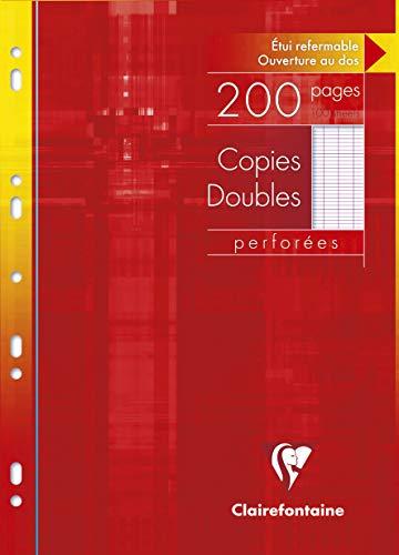Clairefontaine 4711C Packung Kanzleibögen DIN A4 (gelocht, 200 Blatt, französische Lineatur) 1 Pack weiß
