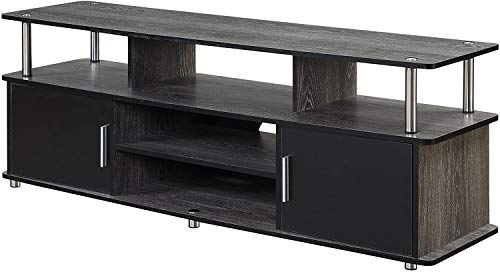 """Convenience Concepts Designs2Go 60"""" Monterey TV Stand, Weathered Gray / Black"""