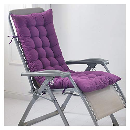 WZLL Sun Lounger Cushion Pads Patio Chair Cushions Thicken High Back Chair Cushion Outdoor Mattress for Armchair Folding Chairs Ndoor/Outdoor (Color : Purple, Size : 48X122cm)