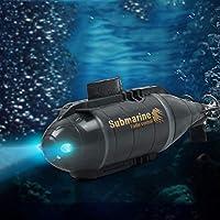 子供のためのおもちゃ-ミニ潜水艦車両 潜水艦安全おもちゃ 無線 スマートセンサー 6ウェイ 海底水のおもちゃ 電気の おもちゃのボートABS 子 ダイビングキット 12.2 * 3.3 * 4.6CM