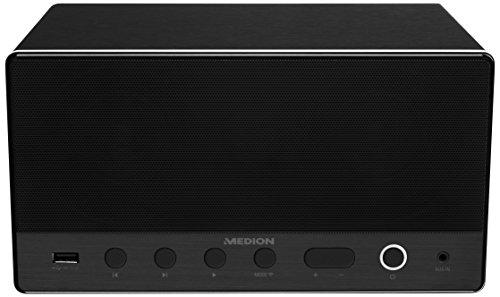 Medion P61071 Multiroom Lautsprecher (WLAN Standard 802,11 a/b/g/n, 2 x 7 und 15 W Subwoofer RMS) schwarz