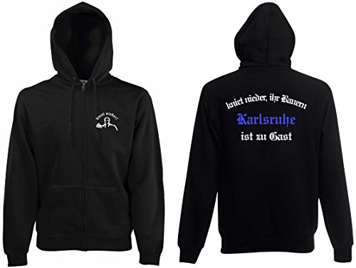 world-of-shirt Herren Kapuzenjacke Karlsruhe Ultras kniet nieder