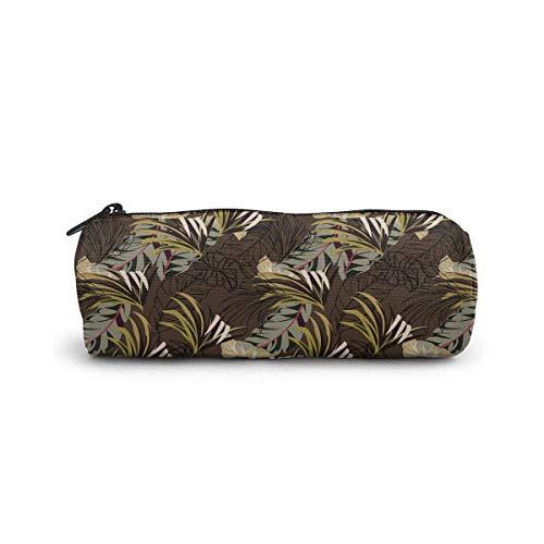 Sac cosmétique de modèle vintage tropical foncé petit sac de maquillage de stockage de voyage