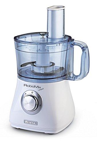 Ariete 1769 Robomix Compact da Cucina, Multifunzione, Capacità 2 L, Set Accessori per Tritare, Affettare, Montare, Impastare, Emulsionare, 500 W, Bianco