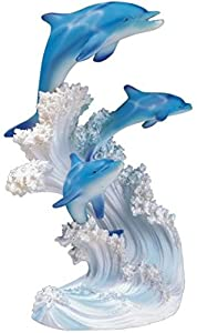 George S. Chen Imports SS-G-90085 Marine Life Three Dolphin Design Figurine Statue Decoration Collection