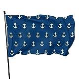 90 x 150 cm große Flagge mit Seefahrt-Anker-Flagge für den Garten, dekorative Banner, Abschreckung