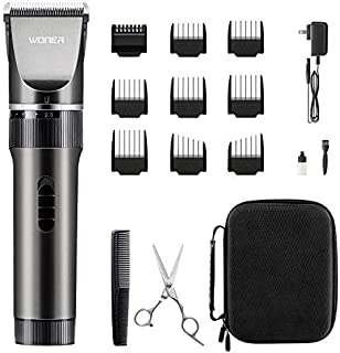 WONER Hair Clippers, Rechargeable Cordless Hair Trimmers for Men Women 16-Piece Home Hair Cutting Kits,Valentines Day Gifts for him