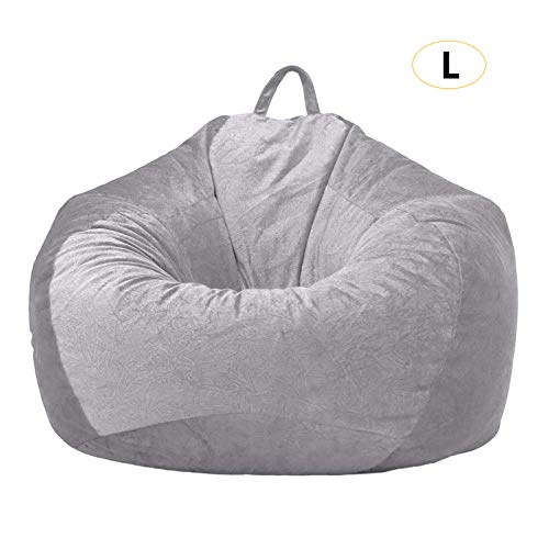 Zitzak met grijze sofa, fluweelstoel, zonder vulling, zitzakken, puff, bank, woonkamer, lazy, sofaovertrekken, 90 x 110 cm