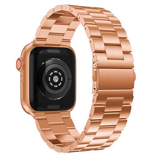Correa de acero inoxidable para Apple Watch Series 5 Reemplazo de metal de 4 bandas 1 3 Pulsera de eslabones de reloj de pulsera