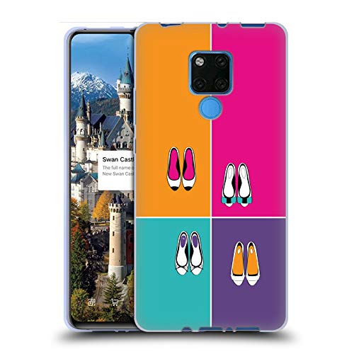 Officiële Martina Illustration Ballerina Girly Schoenen Soft Gel Case Compatibel voor Huawei Mate 20 X