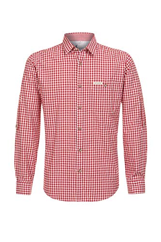 Stockerpoint Herren Campos3 Trachtenhemd, Rot (Rot), Medium