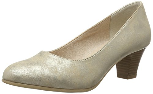 Softline Damen 22463 Pumps, Beige (Pepper/LT Gold 357), 38 EU