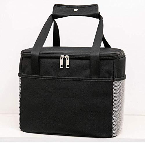 Bolsa calentadora de lona de gran capacidad, bolsa de almuerzo de picnic, bolsa de almacenamiento de alimentos impermeable portátil, bolsa de madre, escuela, uso de oficina
