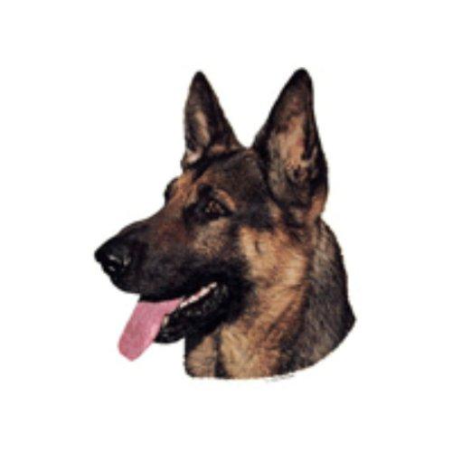 World Stickers Schwandt Heimtierbedarf 13025 Aufkleber 2 Stück ca. 140 x 160 mm für Warnschild Deutscher Schäferhund Kopf