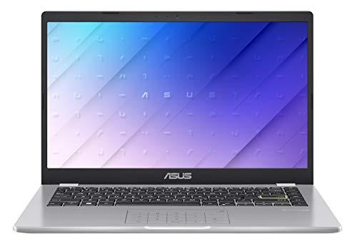 """ASUS E410MA-EK018TS - Ordenador portátil 14"""" FullHD(Celeron N4020, 4GB RAM, 64GB EMMC, Intel UHD Graphics 600, Windows 10 Home) Blanco Sueño - Teclado QWERTY español"""