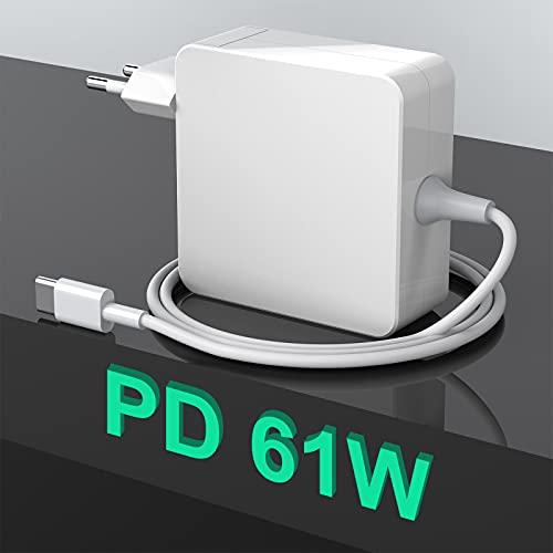 Fuente de alimentación USB C de 61W tipo C, cargador de T-Tip PD, repuesto para Mac Book 2016/2017/2018/2019/2020 Pro/Air, Lenovo/Dell/HP y otros portátiles tipo C