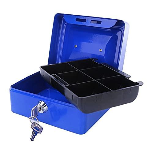 Caja Con Ilave Tecla de protección Protable Caja de seguridad Tienda de hogar Mini dinero caja seguridad caja caja de almacenamiento Caja de almacenamiento Hidden moneda Caja Fuerte Pequeña