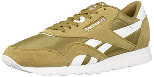 Reebok Men's Classic Nylon Running Shoe, Thatch/White, 5.5 M US