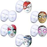 Outgeek Maschera Bianca, 12Pcs DIY Maschera Viso Bianca Maschera Carnevale Per La Giornata Dei Bambini