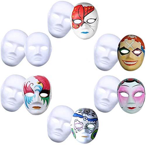 Máscara Blanca, Outgeek 12PCS DIY Máscara Blanca Para Pintar De Disfraces...