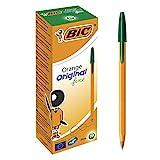 BIC Orange Original Fine Ballpoint Pens Fine Point (0.8 mm) - Green, Box of 20