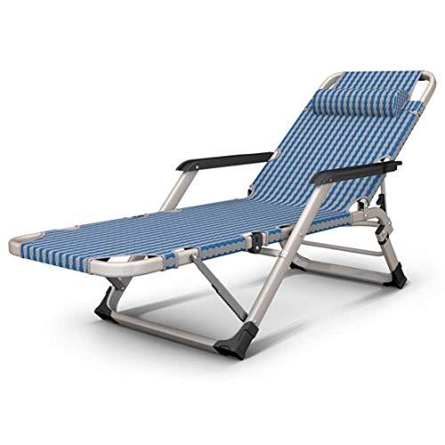 Opklapbare ligstoel, Zero-gravity-stoel Ligstoel gemaakt van metalen frame met afneembaar kussen Vouwen en achterover leunen