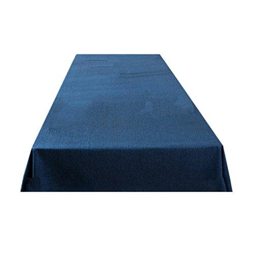 LSHEL Nappe Rectangulaire Imperméable à L'eau de Couleur Unie en Lin 130*250cm Bleu marine