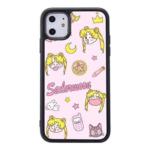 ZMMZ Sailor Moon Anime - Carcasa para iPhone 11 y 12 XR Series, para mujer, TPU suave a prueba de golpes, antiarañazos, compatible con carga inalámbrica A-7/8Plus