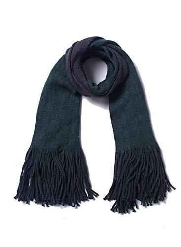 CORAFRITZ Damen-Halstücher für kaltes Wetter, dick, kariert, Quaste, modisch, warm, groß, lang Gr. Einheitsgröße, grün