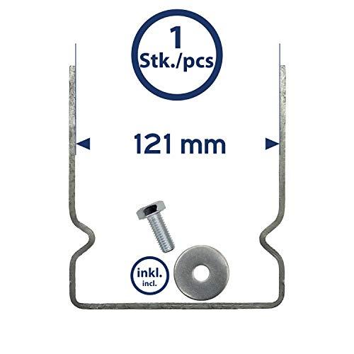 Maxerio Basic Pfostenträger für Schraubfundament, Balkenbreite 12cm, verzinkt