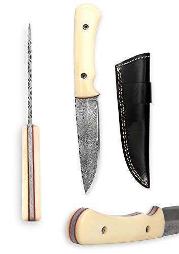 Perkin Damastmesser Jagdmesser mit Scheide - WBC12
