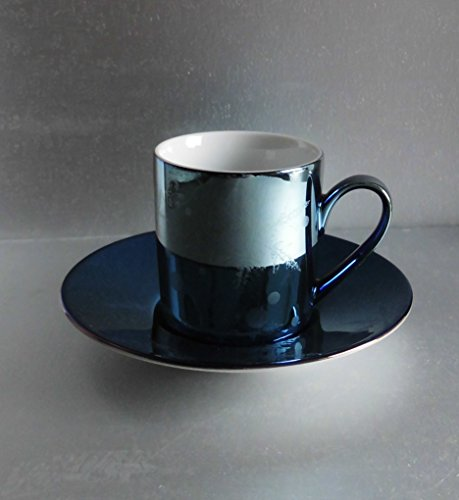 Rosenthal Solitaire Snowflake Blue Uni - Espressotasse mit Untere - 1.Wahl , NEU