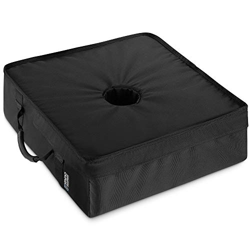 """Rhino Classic Square Umbrella Base Weights 18"""" ~ Fits Any Offset, Cantilever & Any Outdoor Patio Umbrella Stand ~ Easy Set up (Black)"""