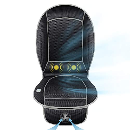 Comfier Cooling seat Cushion with Lower Back Massage, 12/24V...