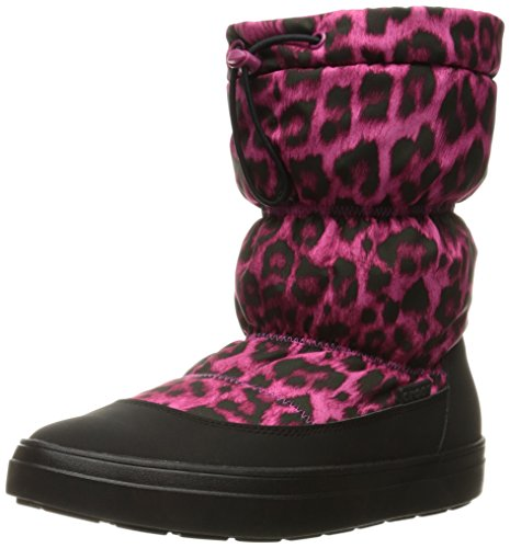 crocs Women's Lodge Point Pull-On Snow Boot, Berry, 8 M US
